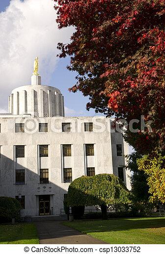 Capital Building in Salem Oregon United States - csp13033752