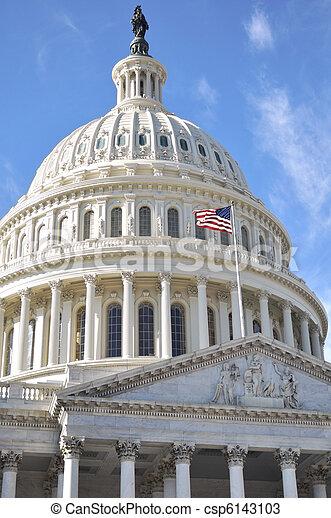 Capital Building in Washington DC - csp6143103