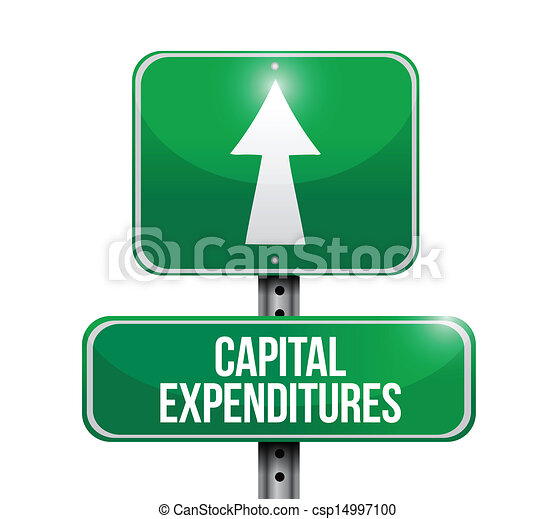 capital expenditures road sign illustrations - csp14997100