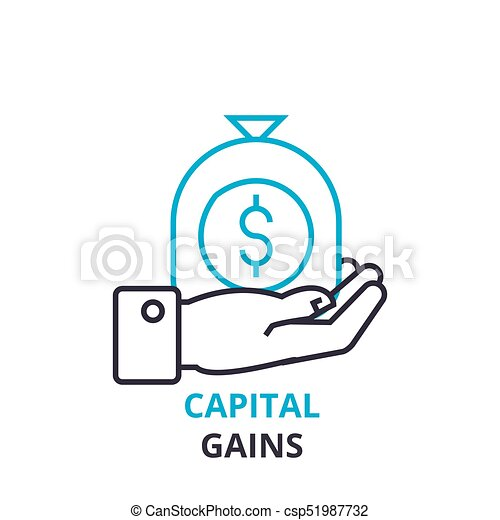 Capital gains concept outline icon linear sign thin line capital gains concept outline icon linear sign thin line pictogram logo ccuart Image collections