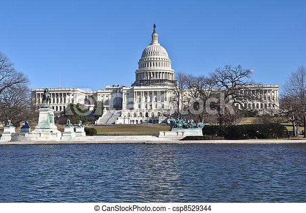 Capital Hill Building in Washington DC - csp8529344