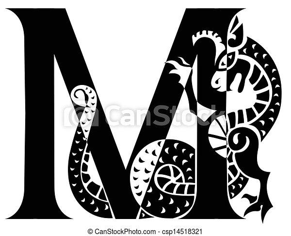 capital letter M - csp14518321