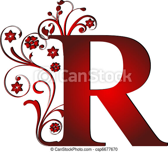 Capital letter r red capital letter r red csp6677670 thecheapjerseys Image collections