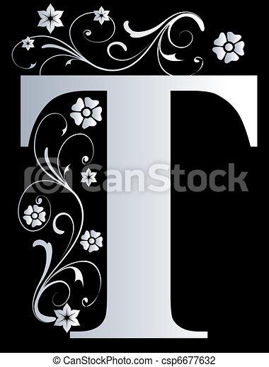 capital letter T - csp6677632