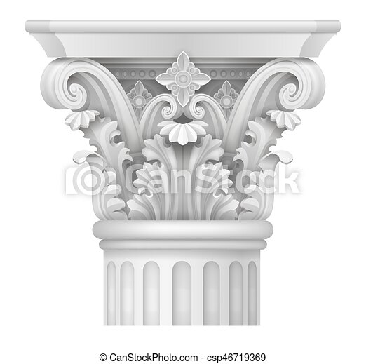 capital of corinthian column white capital of the corinthian column