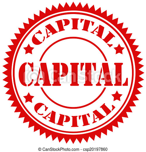 Capital Stamp Red Rubber With Text Capitalvector Illustration