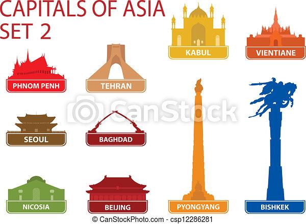 Capitales de Asia - csp12286281