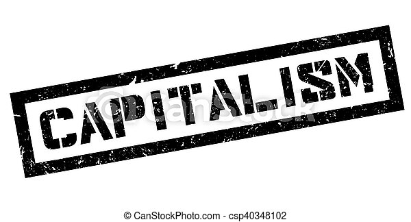 Capitalism rubber stamp - csp40348102
