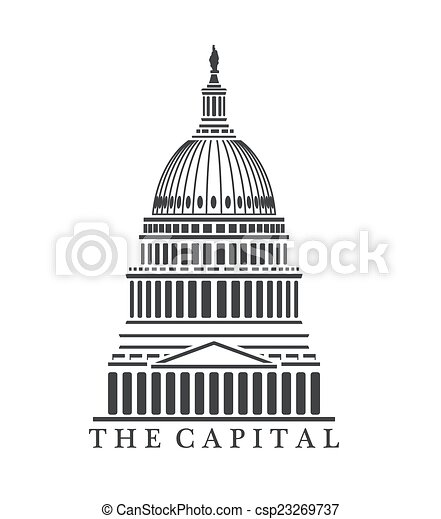 an illustration of capitol building concept rh canstockphoto com texas capitol building clipart City Buildings Clip Art