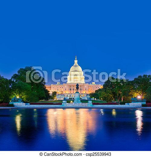 Capitol building sunset Washington DC congress - csp25539943