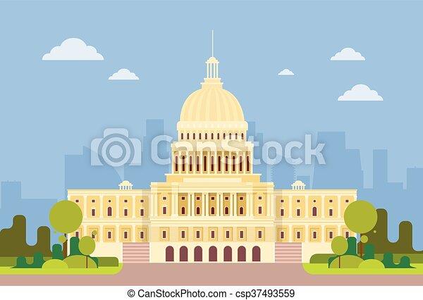 Capitol Building United States Of America Senate House Washington - csp37493559