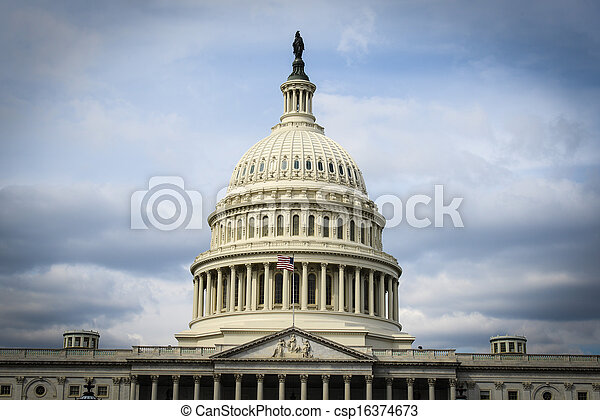 Capitol Hill in the United States - csp16374673
