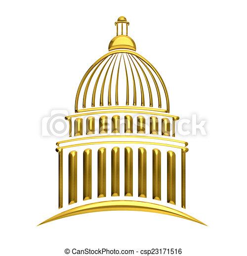 Edificio del Capitolio Dorado - csp23171516