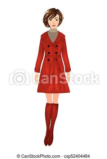 more photos 55015 1791b cappotto, donna, rosso