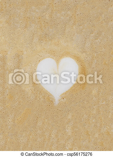 Cappuccino Foam with a Heart - csp56175276