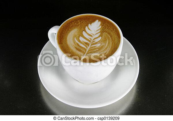 cappuccino, kunst, latte - csp0139209