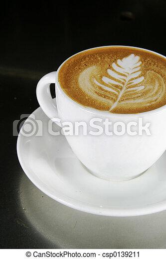 Cappuccino Latte Art - csp0139211