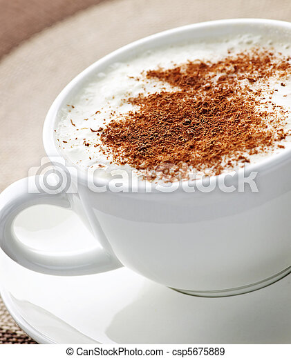 Cappuccino or latte coffee - csp5675889