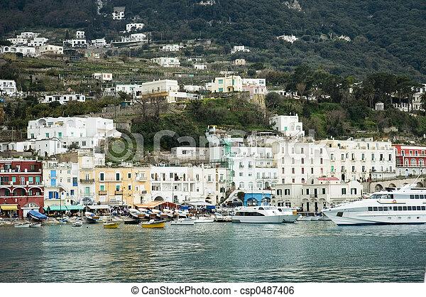 Capri harbour lifestyle - csp0487406
