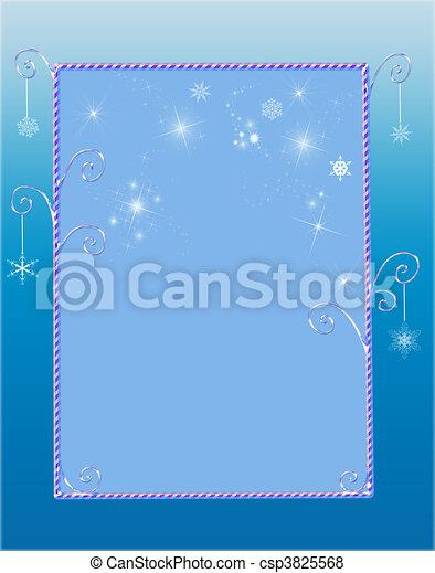 Frontera invernal Whimsical - csp3825568
