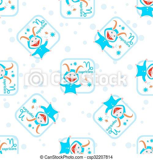 capricorn seamless pattern - csp32207814