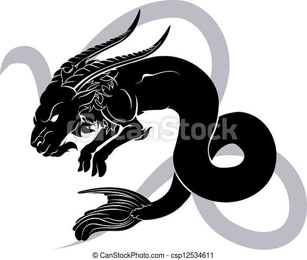 Capricorn zodiac horoscope astrology sign - csp12534611