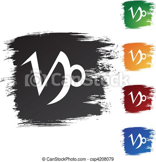 Capricorn Zodiac Symbol Eps Vectors Search Clip Art Illustration