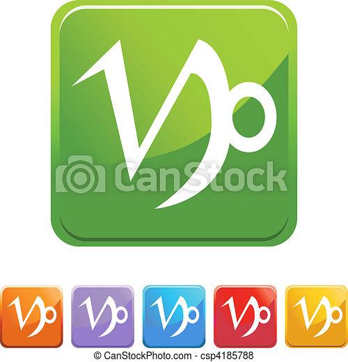 Capricorn Zodiac Symbol Vector Search Clip Art Illustration