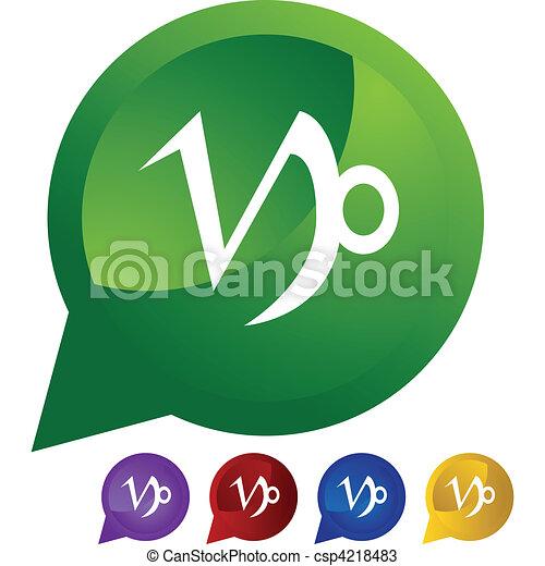 Capricorn Zodiac Symbol Vectors Search Clip Art Illustration