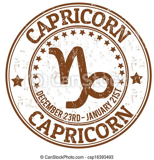 Un sello grunge de Capricornio - csp16393493