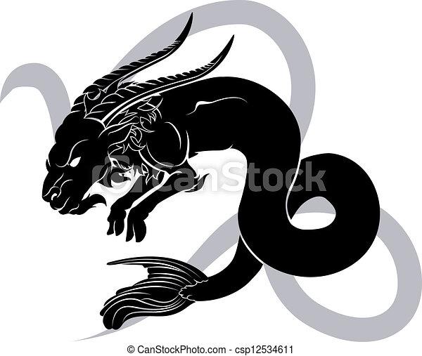 Análisis de horóscopo zodíaco capricornio - csp12534611