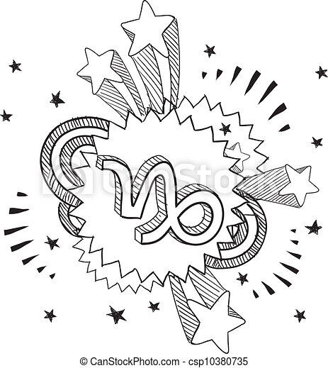 capricorno, simbolo, pop, astrologia - csp10380735