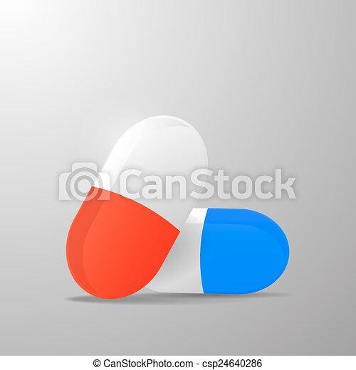 capsule, ontwerp, pil, basis - csp24640286