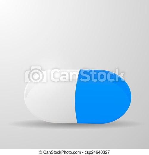 capsule, ontwerp, pil, basis - csp24640327