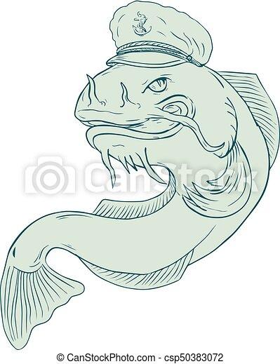 Captain Catfish Drawing