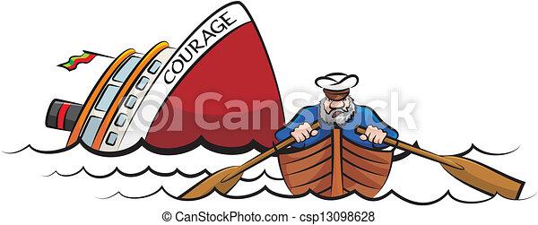 Ship Sinking Clipart