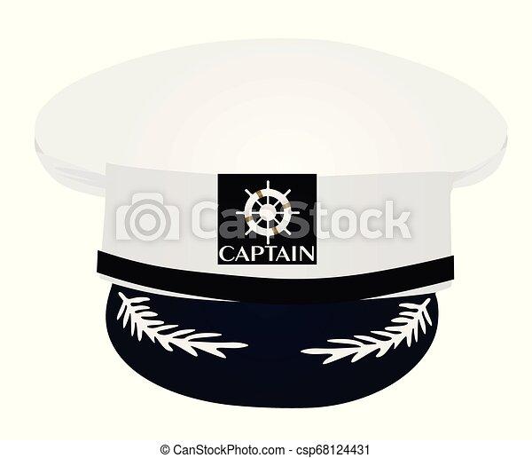 ad597a90 Captain hat. vector illustration.