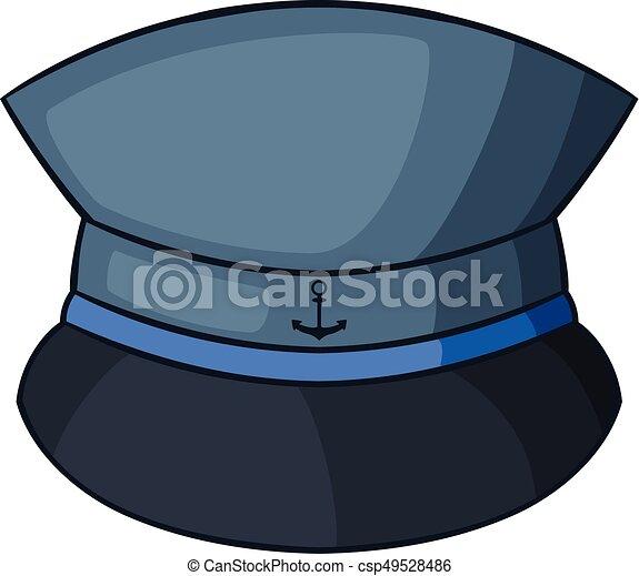 88c0ad3e Captain hat icon, cartoon style. Captain hat icon. cartoon ...