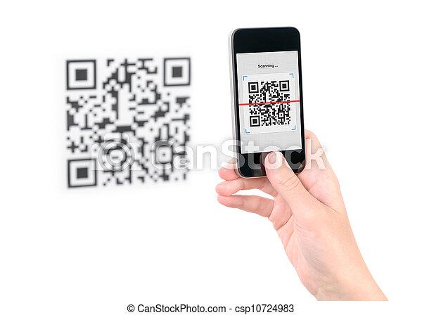 Capture QR code on mobile phone - csp10724983