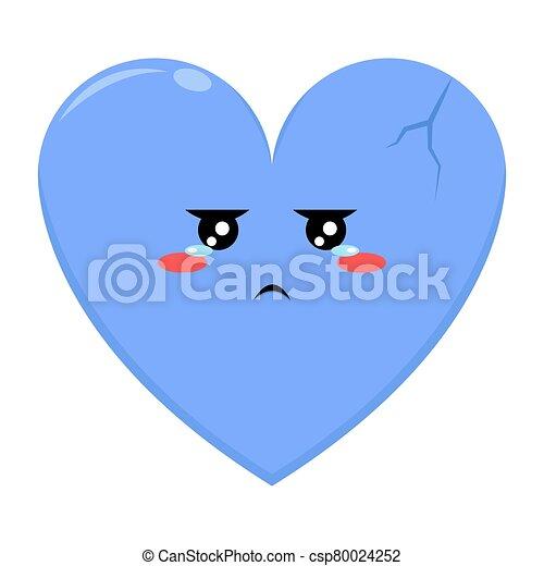 carácter, amor, azul, expresión triste - csp80024252