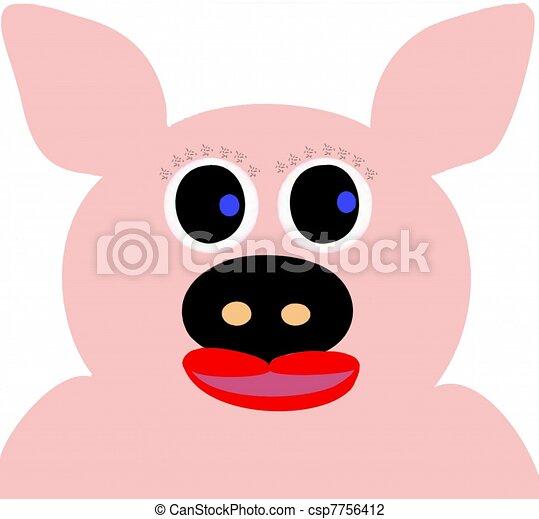 Clip art de carcter caricatura cerdo  Cartoon cerdo con