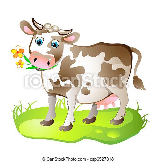 Cartoon caracter de vaca - csp6527318