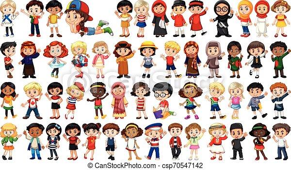 Un conjunto de personalidad multicultural - csp70547142