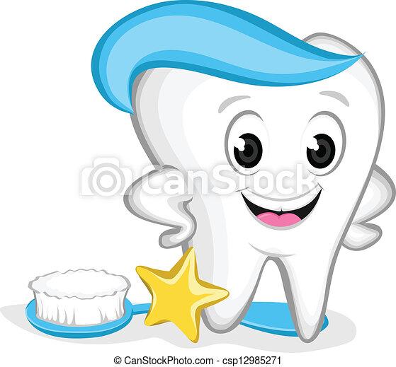 El personaje del diente - csp12985271