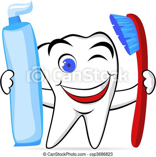 El personaje del diente - csp3686823