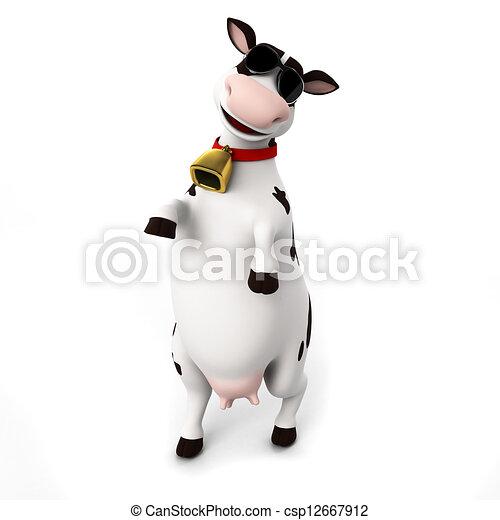 Un personaje de vaca - csp12667912