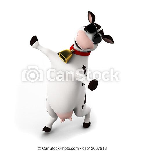 Un personaje de vaca - csp12667913