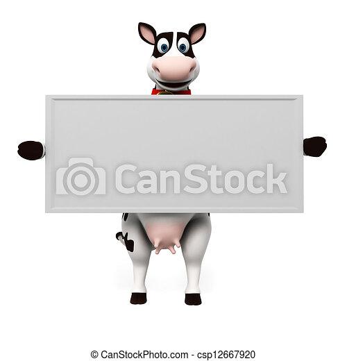 Un personaje de vaca - csp12667920