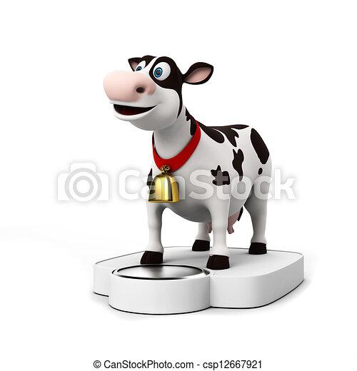 Un personaje de vaca - csp12667921
