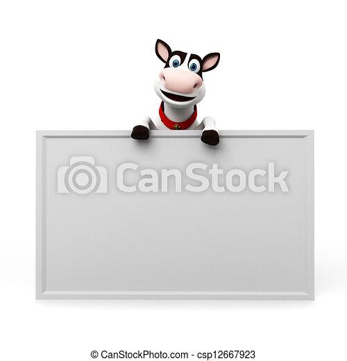 Un personaje de vaca - csp12667923